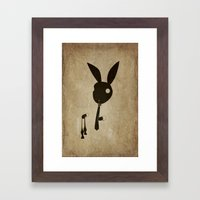 Goodbye Bow Tie Framed Art Print