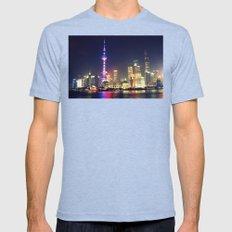 Shanghai  Mens Fitted Tee Tri-Blue SMALL