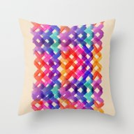 Watercolor Experiment Throw Pillow