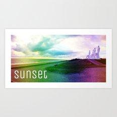 Sunset in DK Art Print