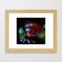 Happiness is Color Framed Art Print