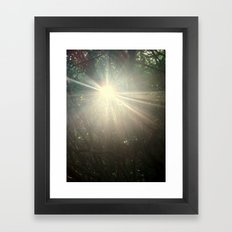 Keep me in the light Framed Art Print