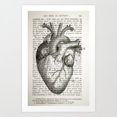 Anatomical Heart on French Art Print