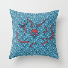 The Last Kraken Throw Pillow