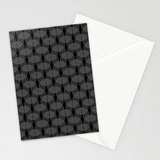 black undulation Stationery Cards