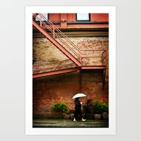 Through A Rainy Lens Art Print