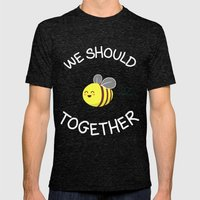 A Bug's Love Life Mens Fitted Tee Tri-Black SMALL