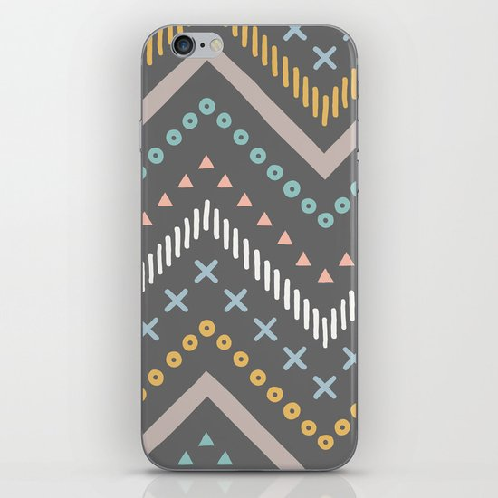 Mixed Zig Zag - in Charcoal iPhone & iPod Skin