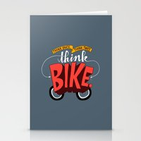 Think Once. Think Twice. Think Bike. Stationery Cards