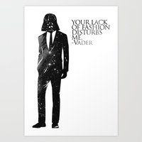 star Art Prints featuring the lord of fashion by H A P P Y J O Y