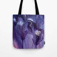 Iris, Blue And Purple Tote Bag