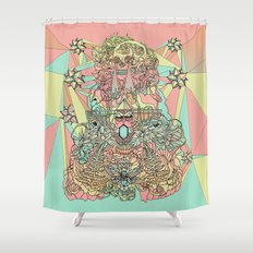 the functioning parts Shower Curtain