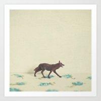 Wandering Wolf Art Print