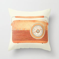 Radio Silence Throw Pillow