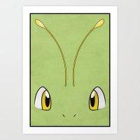 #154 Meganium - Pokemon … Art Print
