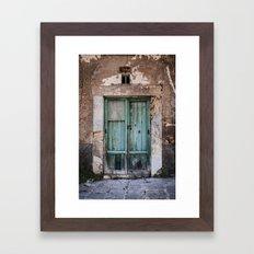 Green Door II Framed Art Print