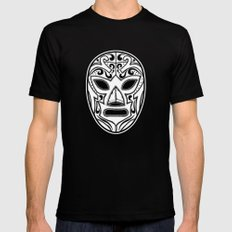 Mexican Wrestling Mask Black SMALL Mens Fitted Tee