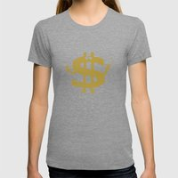 High Class Lifestyle Womens Fitted Tee Tri-Grey SMALL
