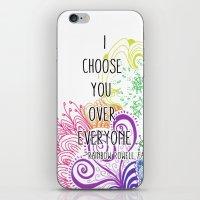 I Choose You Over Everyone Doodle iPhone & iPod Skin