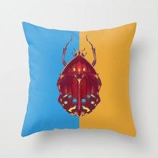 Art Deco Beetle Throw Pillow