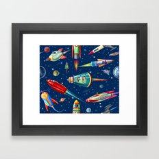 Rockets In Traffic Framed Art Print