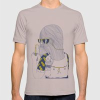 Summer Monster Mens Fitted Tee Cinder SMALL