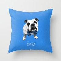 Blue Bowser Throw Pillow