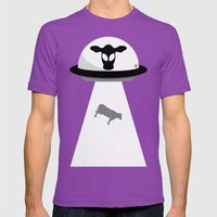 Space Cows Mens Fitted Tee Ultraviolet SMALL
