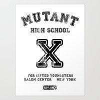Mutant High School (X-men, Comics, Parody, Mashup, Wolverine) Art Print