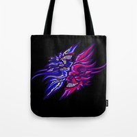 Twin Demons Intertwined Tote Bag