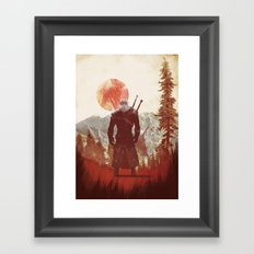 witcher geralt variation print Framed Art Print
