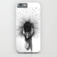 iPhone & iPod Case featuring Black Crowned Crane G2012-065 by S-Schukina