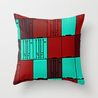 Import / Export Throw Pillow