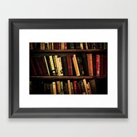 Book Shelf Framed Art Print