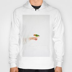 Woman and parrot Hoody