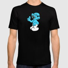 Tobias Smurf SMALL Black Mens Fitted Tee
