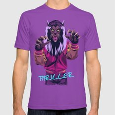 THRILLER - Werewolf Vers… Mens Fitted Tee Ultraviolet SMALL