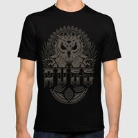 Dark Birds of the Greek Mens Fitted Tee Black SMALL