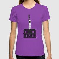 Halloween (Red Collection) Womens Fitted Tee Ultraviolet SMALL
