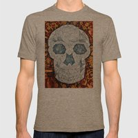 Galvanized Skull Mens Fitted Tee Tri-Coffee SMALL