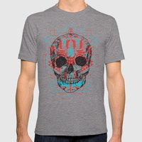 Skull Native Mens Fitted Tee Tri-Grey SMALL