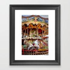 Double Decker Carnival Carousel  Framed Art Print
