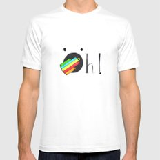 Oh! White Mens Fitted Tee SMALL
