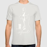 PIN Mens Fitted Tee Silver SMALL
