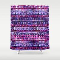 Hau'oli Stripe Purple Shower Curtain