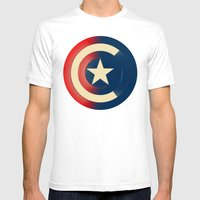 Captain Mens Fitted Tee White SMALL
