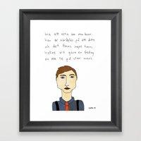 Bra Att Veta Om Min Bror Framed Art Print