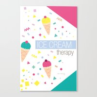 Ice Cream Therapy Canvas Print