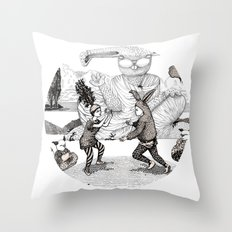 The Great Fight Throw Pillow