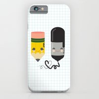 Pencil and Sharpie Buds iPhone 6 Slim Case